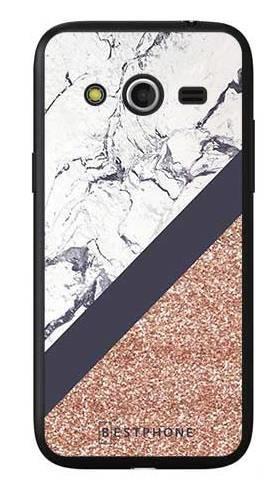 Etui marmurowy brokat na Samsung Galaxy Core LTE