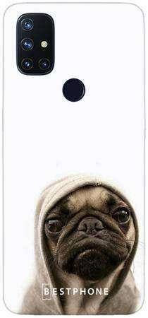 Etui mops na białym tle na OnePlus Nord N10 5G