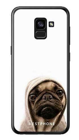 Etui mops na białym tle na Samsung Galaxy A7 2018