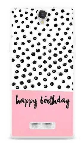 Etui na urodziny happy birthday kropki na MyPhone Cube