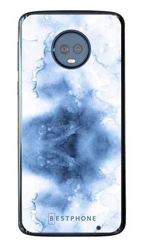 Etui niebieska akwarela na Motorola Moto G6 Plus