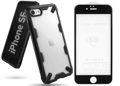 Etui pancerne RINGKE FUSION X IPHONE 7/8/SE 2020 czarne +szkło 5D