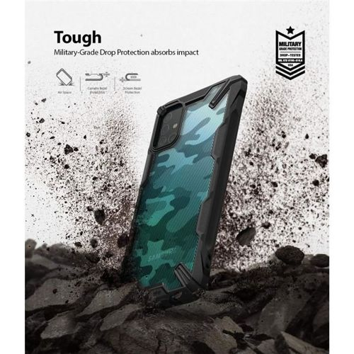 Etui pancerne RINGKE FUSION X Samsung Galaxy A51 CAMO BLACK