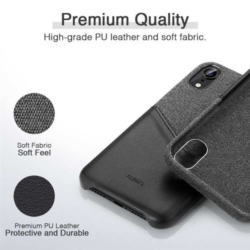 Etui pokrowiec ESR METRO IPHONE XR BLACK/GREY