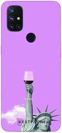 Etui posąg z winem na OnePlus Nord N10 5G