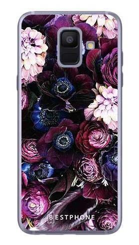Etui purpurowa kompozycja kwiatowa na Samsung Galaxy A6