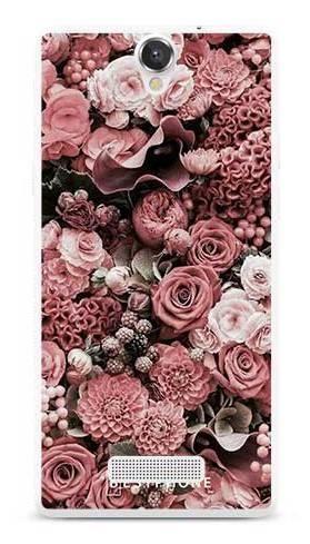 Etui różowa kompozycja kwiatowa na MyPhone Cube