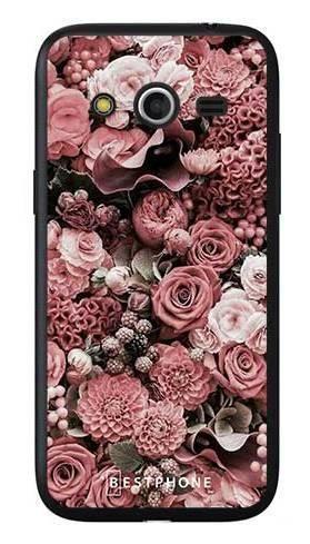 Etui różowa kompozycja kwiatowa na Samsung Galaxy Core LTE