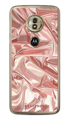 Etui różowy atłas na Motorola Moto G6 Play