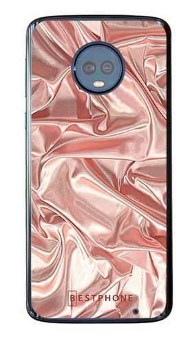 Etui różowy atłas na Motorola Moto G6 Plus