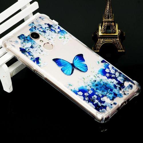Etui slim Art XIAOMI REDMI 5 niebieski motyl