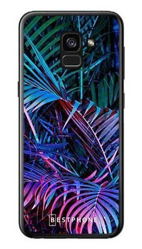 Etui tropikalne fluo na Samsung Galaxy A7 2018