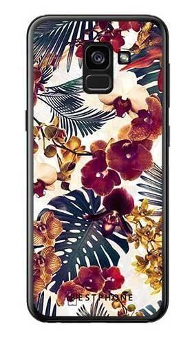 Etui tropikalne kwiaty na Samsung Galaxy A7 2018