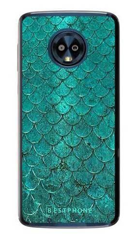 Etui turkusowa rybia łuska na Motorola Moto G6