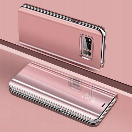 Etui z klapką Clear View Cover HUAWEI  Y7 2019 PRIME różowe
