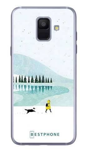 Etui zimowy spacer na Samsung Galaxy A6