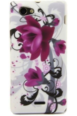 FLOWER Sony XPERIA J fioletowy kwiat