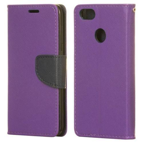 Fancy Case etui pokrowiec z funkcją podstawki Huawei P9 Lite Mini fioletowy