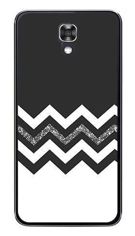Foto Case LG X SCREEN biało czarny szlaczek