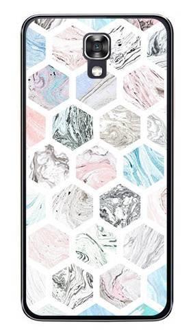 Foto Case LG X SCREEN kolorowe sześciokąty