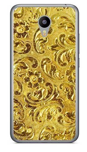 Foto Case Meizu M2 NOTE złota perforacja
