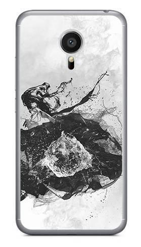 Foto Case Meizu MX5 czarno biały wybuch