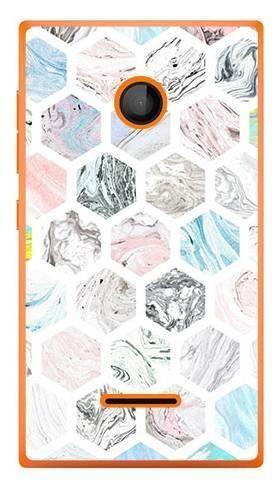 Foto Case Microsoft Lumia 435 kolorowe sześciokąty