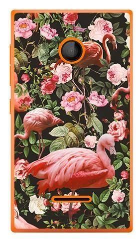 Foto Case Microsoft Lumia 435 tropikalne flamingi