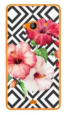 Foto Case Microsoft Lumia 535 kwiaty i wzorki