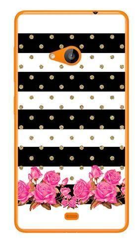 Foto Case Microsoft Lumia 535 paski kwiatki kropki