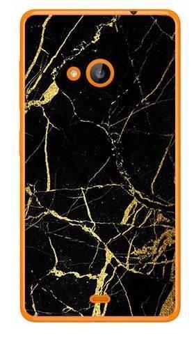 Foto Case Microsoft Lumia 540 czarno złoty marmur