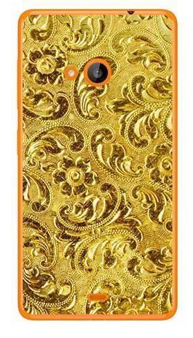 Foto Case Microsoft Lumia 540 złota perforacja