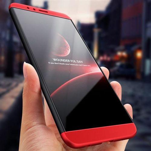 GKK 360 Protection Case etui na całą obudowę przód + tył Huawei Honor 7X czerwony