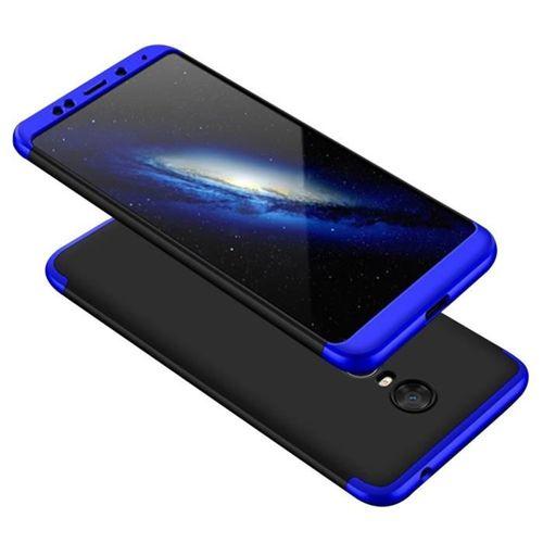 GKK 360 Protection Case etui na całą obudowę przód + tył Xiaomi Redmi 5 Plus / Redmi Note 5 (single camera) czarno-niebieski
