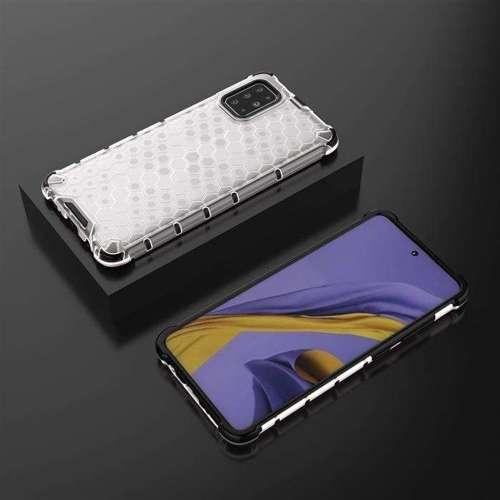Honeycomb etui pancerny pokrowiec z żelową ramką Samsung Galaxy A51 przezroczysty
