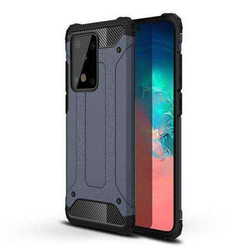 Hybrid Armor pancerne hybrydowe etui pokrowiec Samsung Galaxy S20 Plus niebieski