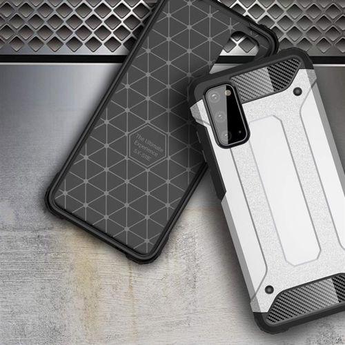 Hybrid Armor pancerne hybrydowe etui pokrowiec Samsung Galaxy S20 niebieski