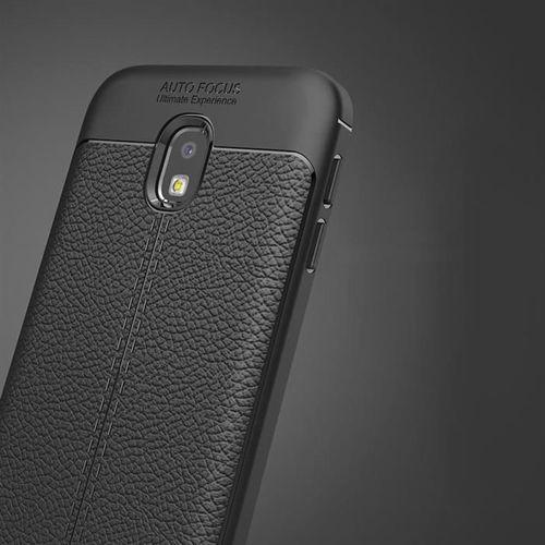 Litchi Pattern elastyczne etui pokrowiec Samsung Galaxy J3 2017 J330 szary