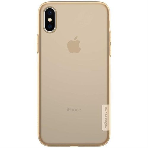 Nillkin Nature żelowe etui pokrowiec ultra slim iPhone XS / X brązowy