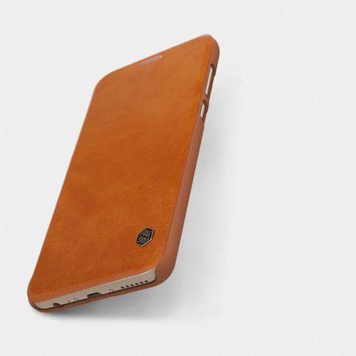 Nillkin Qin skórzana kabura etui Huawei Mate 10 Lite brązowy