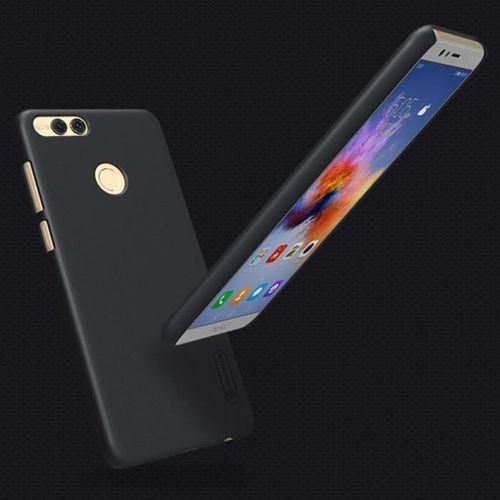 Nillkin Super Frosted Shield wzmocnione etui pokrowiec + folia Huawei Honor 7X czarny