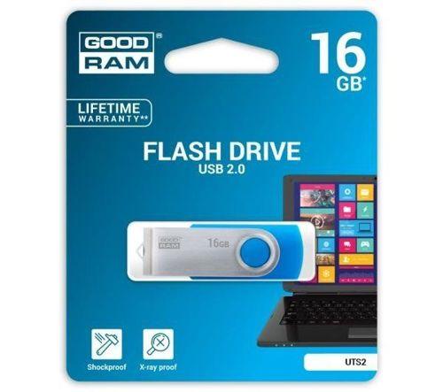 Pendrive 16GB GOODRAM USB 2.0 Twister niebieski