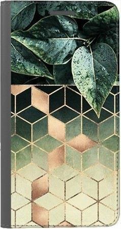 Portfel DUX DUCIS Skin PRO geometryczna roślina na Huawei Honor 9 Lite