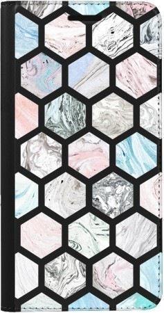 Portfel DUX DUCIS Skin PRO marmurowe sześciokąty na Samsung Galaxy A70