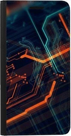 Portfel DUX DUCIS Skin PRO pomarańczowe łącza na Samsung Galaxy A70