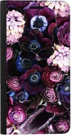 Portfel DUX DUCIS Skin PRO purpurowa kompozycja kwiatowa na Samsung Galaxy A70