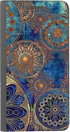 Portfel DUX DUCIS Skin PRO złote okręgi na Huawei Honor 10