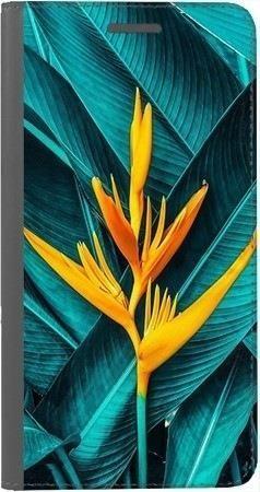 Portfel DUX DUCIS Skin PRO żółty kwiat i liście na Huawei Honor 10