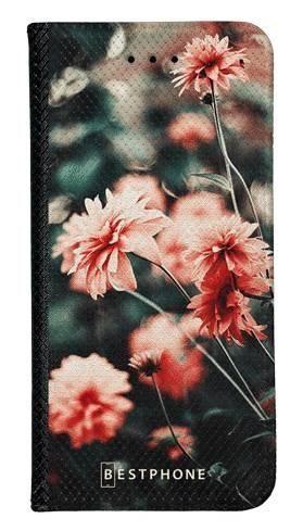 Portfel Wallet Case LG G8 ThinQ pomarańczowe kwiaty