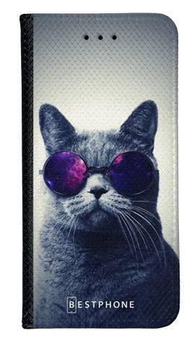 Portfel Wallet Case LG K40 kot w okularach galaxy